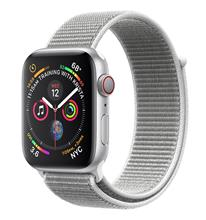 Apple Watch 4 GPS 44mm Silver Aluminum Case with Seashell Sport Loop Band
